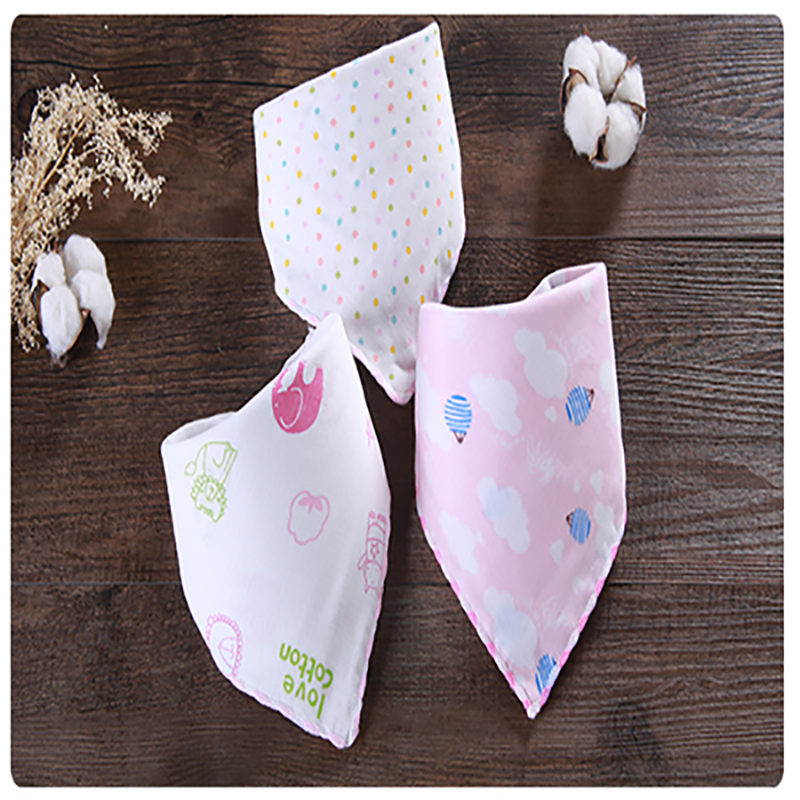 Baby Bibs Newborn Waterproof Cotton Gauze Towel Infant Toddler Triangle Feeding Scarf Burp Cloths Saliva TowelBaby Bibs Boy Girl