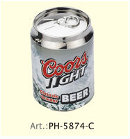 1pc Coors Light Beer Can 4 Parts Herb Grinder With Pollen Catcher