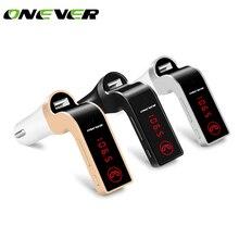 4 в 1 Hands Free Беспроводной Bluetooth fm-передатчик G7+ AUX модулятор Автомобильный комплект MP3-плееры SD USB ЖК-дисплей автомобиля Интимные аксессуары