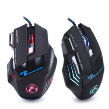 Ergonomis Wired Gaming Mouse 7 Button 5500 DPI LED USB Komputer Mouse Gamer Mice X7 Diam Mause dengan Lampu Latar untuk PC Laptop(China)