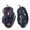 Profesional con cable de ratón del juego 7 botón 5500 DPI LED óptico USB Gamer ratón ratones X7 juego ratón de Mause para PC