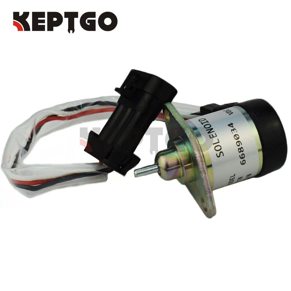 Fuel Shutoff Solenoid 6689034 1G577 60011 12v For Bobcat A300 S220 S250 S300 S330