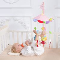 Baby Bed Bell Infant Toys Crib Cycling Music Bell Children Early Learning Imagination Cute Cartoon Plush Mobile Crib Bell
