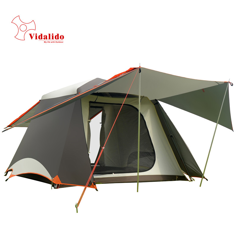 Ultralarge Hall One Bedroom 3 - 4 person Camping Tent Family Travel Tent Waterproof Anti-UV in one person
