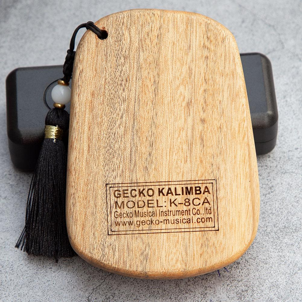 Mini Kalimba de Poche 8 Notes - Gecko en Camphre / Acajou - Acheter Kalimba artisanal - Thekalimba ❤️️