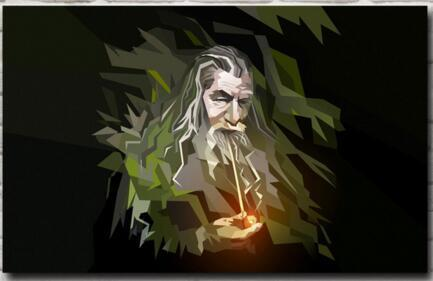 The Lord of the Rings Gandalf Movie Print