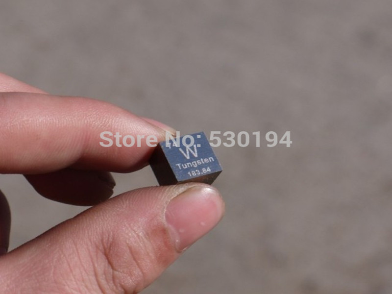 99.95% High Purity Tungsten  Metal W19.16g Carved Element Periodic Table 10mm Cube