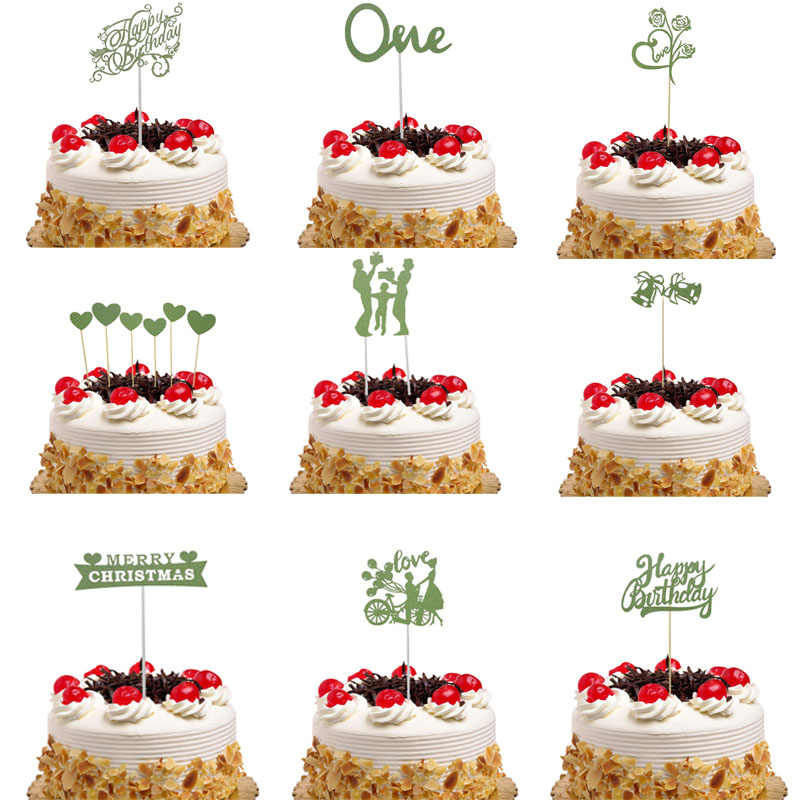 Christmas Cake Toppers.33 Style Cake Flags Cupcake Cake Toppers Topper Kids Happy Birthday Wedding Bridal Merry Christmas Cake Wrapper Party Baking Diy