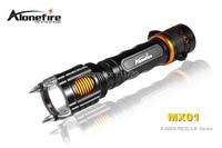 Alonefire mx01 X-MEN 시리즈 cree XM-L2 led 6 모드 완전 기능 알람 구조 led 손전등 토치 1x18650 충전식