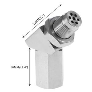 Image 5 - Yetaha 135 درجة O2 الأوكسجين الاستشعار فاصل ضوء المحرك سيل تحقق Bung محول الحفاز الصغير ل M18 X 1.5 الموضوع