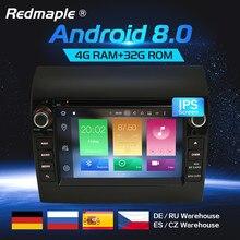 Android 8,0 автомобильный Радио dvd-плеер gps Мультимедиа Стерео для Fiat Ducato 2008-2015 Citroen Jumper peugeot Boxer видео навигация