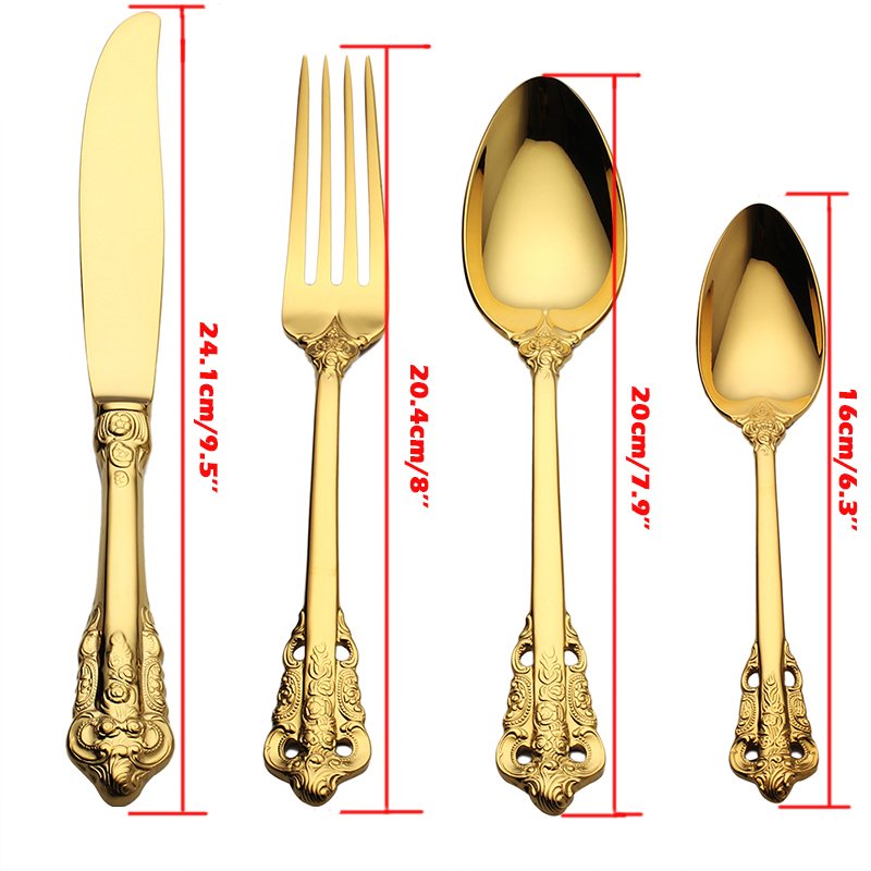 Golden Flatware set  (1)