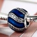 925 Esterlina Encantos de Prata para Pulseiras e Pulseira Vermelha ou azul Adorno Elegante Charme Beads Jóias DIY como Presente para mulheres