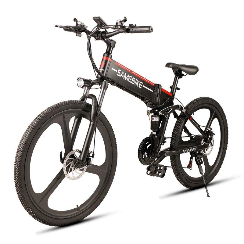 Samebike nouveau vélo électrique 21 vitesses 10AH 48 V 350 W E vélo électrique VTT moteur pliable EBike puissant vélo électrique