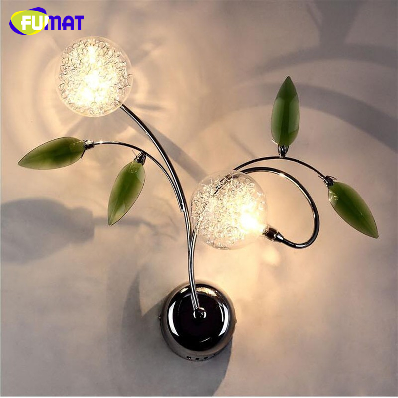FUMAT K9 Crystal Wall Lamp Creative Glass Balls Lamp Living Room Bed Room LED Glass Wall Sconces Foyer Corridor LED Wall Lamp garden single head headlight hotel dining room club art glass decorative corridor wall lamp european bird beauty wall lamp