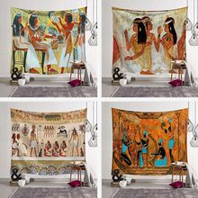 Ancient Egypt Printed Decorative Tapestry Mandala Tapestry Wall Hanging Indian Wall Carpet Yoga Mat Decorative Tapestry for Home