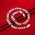 Width:10MM Wholesale 2015 Fashion silver 925 Long Chain Necklace For Men Trendy Link Chain Necklaces collares hombre bijoux N051