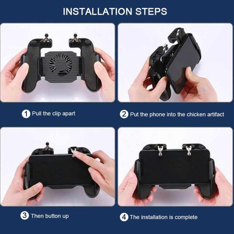 Для PUBG геймпад мобильный телефон джойстик для мобильного управления геймер Android игровой коврик L1R1 контроллер для iPhone huawei охлаждающий вентилятор