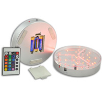 30pcs AA Battery Operated 6INCH LED Round LED Under Table Light Base For Wedding Party Decoration