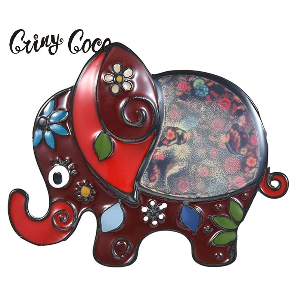 Cring Coco Elephant Gifts for Women Fashion Enamel Pins Vintage Brooch Pins for Girls Cute