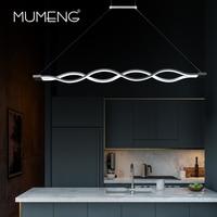 mumeng LED Wave Pendant Light 40W Newest Minimalist Dinning room livingroom Suspension Luminaire 90 265V Acrylic Hanging Lamp
