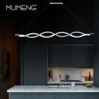 Mumeng LED Wave Pendant Light 40W Newest Minimalist Dinning Room Livingroom Suspension Luminaire 90 265V Acrylic