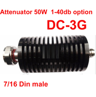 50W RF Attenuator 7 16 Din Male To N Female DC 3G 3 40DB Attenuation Feeder
