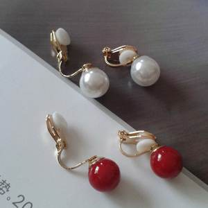 JIOFREE New Arrive Fashion Simple pearl clip on Earrings Non Piercing For Women Elegant Simulated Pearl Jewelry Brincos