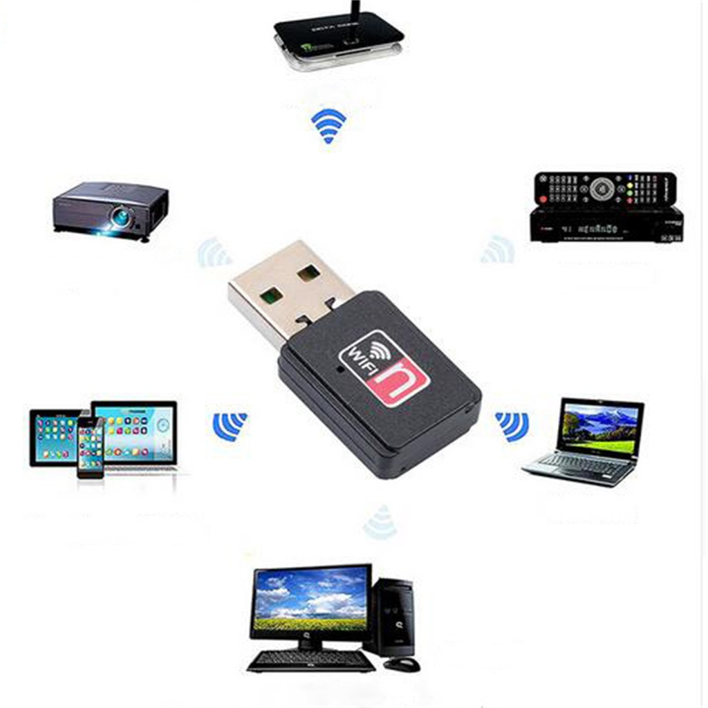 Hot sale Mini USB 150 Mbps WiFi Adapter wireless receiver external network card Adapter Computer accessories Tablet Pc ноутбук