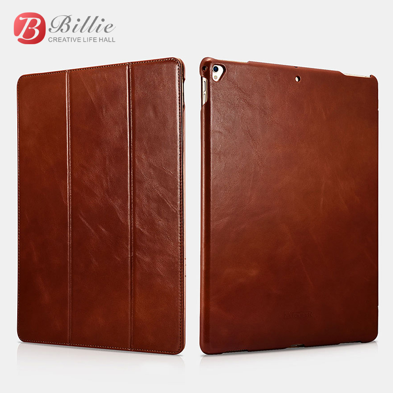 где купить ICARER Vintage Series Luxury Genuine Leather Flip Case new for iPad Pro 12.9