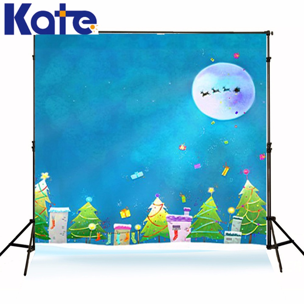 New arrival Background fundo Moon Christmas deer car 6.5 feet length with 5 feet width backgrounds LK 3721 new arrival background fundo gifts christmas trees 600cm 300cm width backgrounds lk 3730