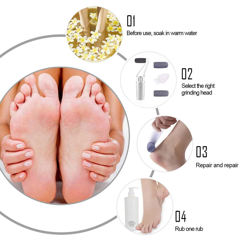 Image 4 - New Li ion Powerful Professional Electric Foot Care File Better Pedicure Tools for Feet Heels Pedicure Dead Skin+Travel Bag-in Electronic Foot Files from Home Appliances