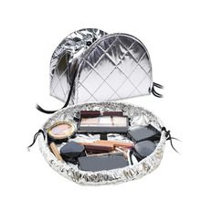 Toiletry Wash Cosmetic Bag Makeup Storage Case Organizer Drawstring shrink foldable Women Fashion Travel Accessories Supplies