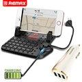 Remax Universal 1 Soporte para Teléfono + 1 Set Cargador de Coche Móvil Imán de Conexión Ajuste Bracket Holder 3 USB Cargador de Coche de Doble Cabeza Cable