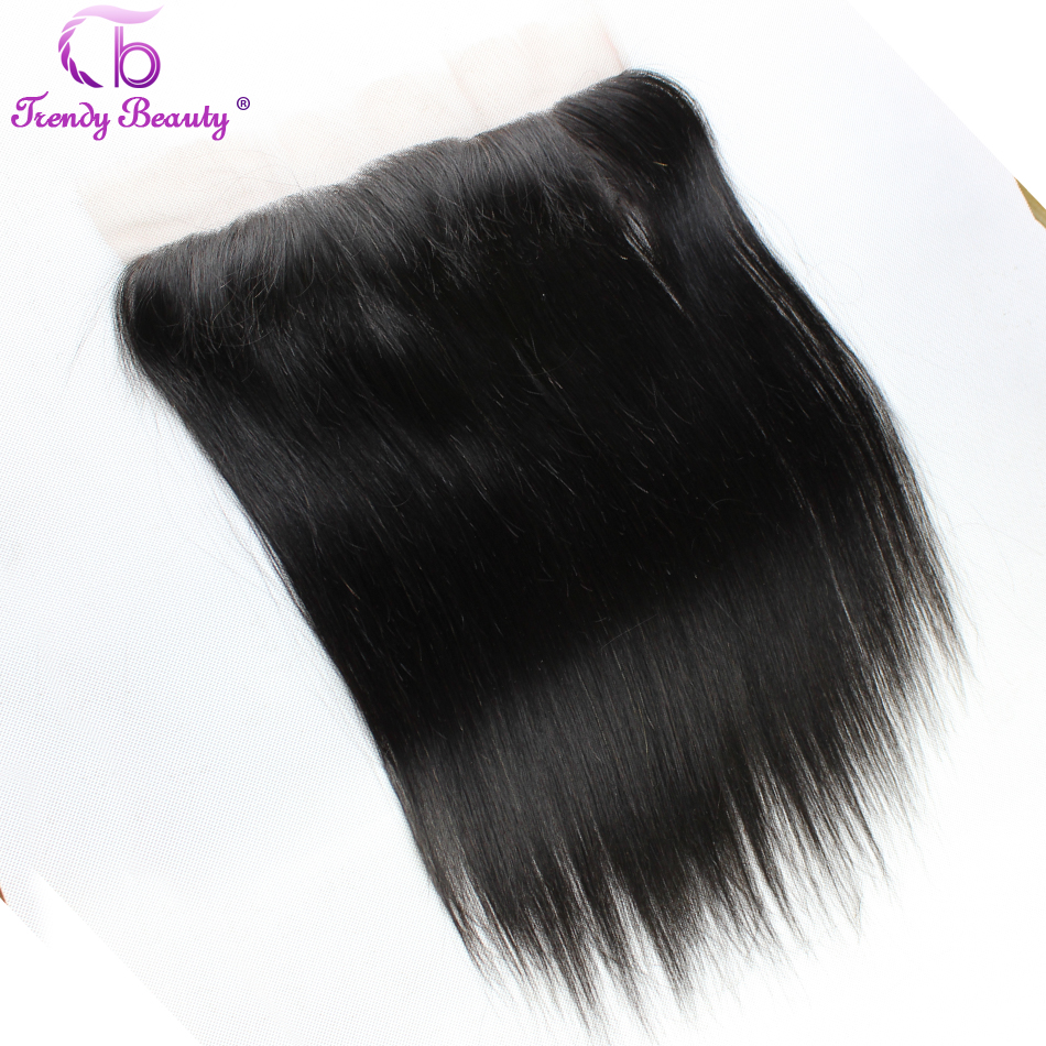 Trendy Beauty Hair Lace Frontal Indian Straight Human Hair 13 4 Ear to Ear Frontal