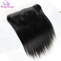[Trendy Beauty Hair] Lace Frontal Indian Straight Human Hair 13*4 Ear to Ear Frontal Pre Plucked 12-20 inch Non-remy Hair