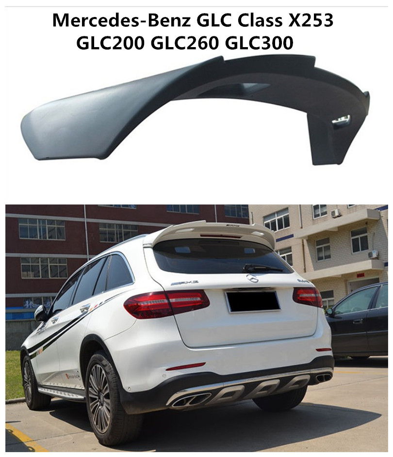 High Quality Spoiler For Mercedes-Benz GLC Class X253 GLC200 260 300 2016.2017 Car ABS Rear Wing Spoilers Auto Accessories glc coupe решетка радиатора amg