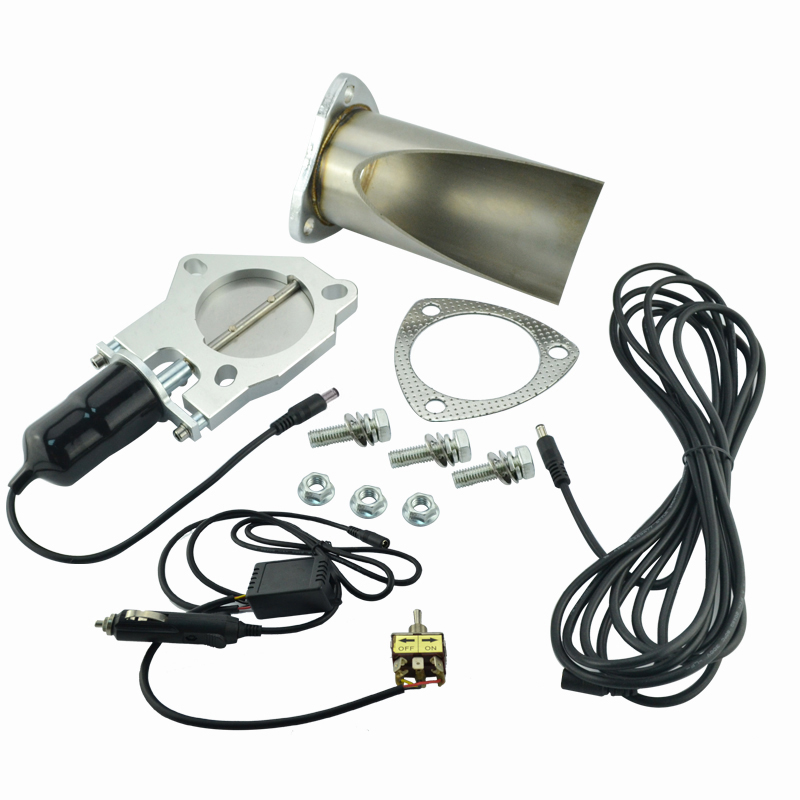 2 5 inch Electric Stainless Exhaust Cutout with Manually control With Be cut Pipe Exhaust Cut