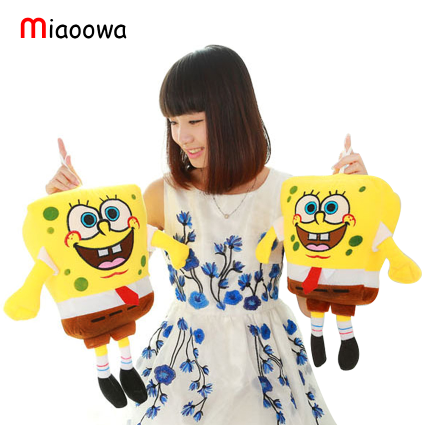 40cm Sponge Bob Baby Toy Spongebob And Patrick Plush Toy Soft Anime Cosplay Doll For Kids Toys Cartoon Free Shipping