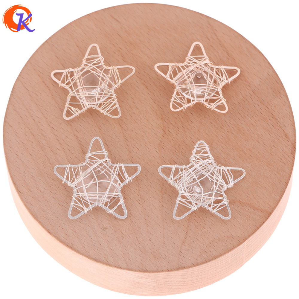 Cordial Design 50Pcs 28MM Earring Findings/Earring Base Parts/Wire Enlace Charm Beads/Star Shape/Hand Made/Jewelry Accessories