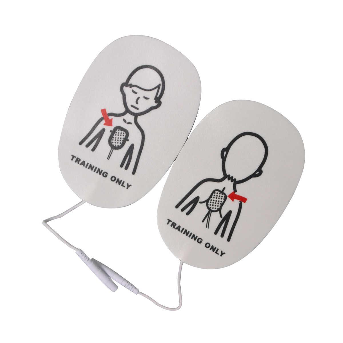 1 par de almohadillas de repuesto de entrenamiento de primeros auxilios para el cuidado de la salud, parches de entrenamiento Universal de entrenamiento para uso de emergencia