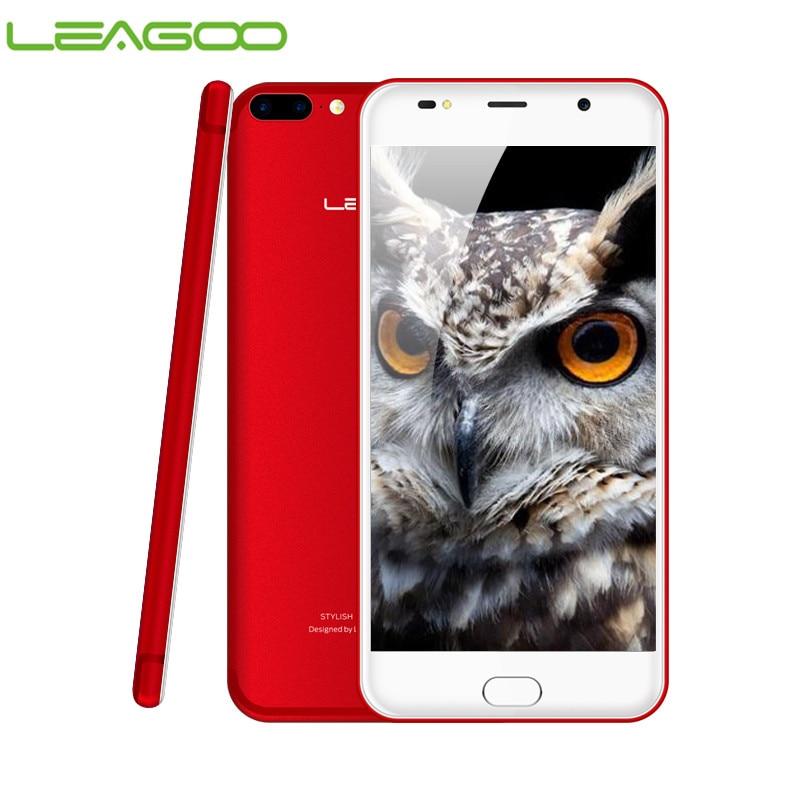 LEAGOO M7 3G Smartphone Android 7,0 5,5 pulgadas 1 GB RAM 16 GB ROM MT6580A Quad Core Dual Back cámara de huellas digitales teléfono móvil