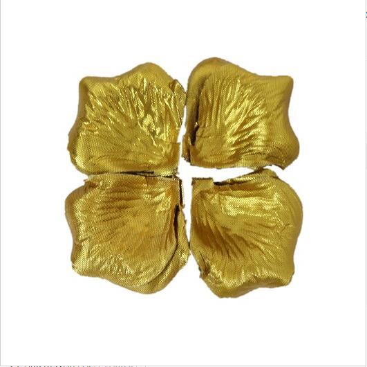 2000 шт. / партия 5* 5 см шелковые лепестки роз на свадьбу, Романтические искусственные лепестки роз Свадебные розы - Цвет: Gold