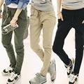 2015 New !!! Fashion Women Casual Special Design Pockets Skinny Pencil Pants Stretchable Feet Pants Waist Belt  lx*E3128*5