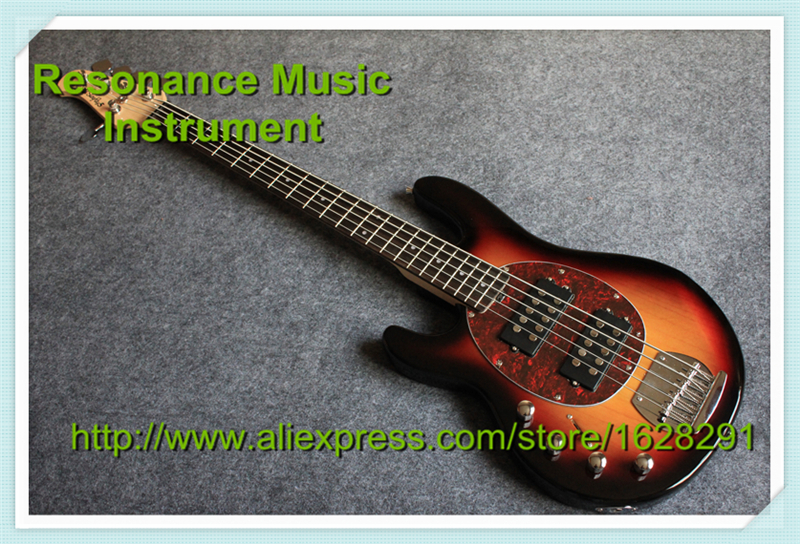 Customed Design Left Hand Musicman Bass Body in Ash Wood Sunset Color Made In China