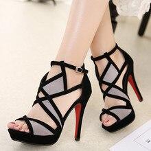 DiJiGirls New Design Women Sandals Platform Summer Shoes Woman Gladiator Sandals High Heels Cropped Stitched Open Toe Sandals 42