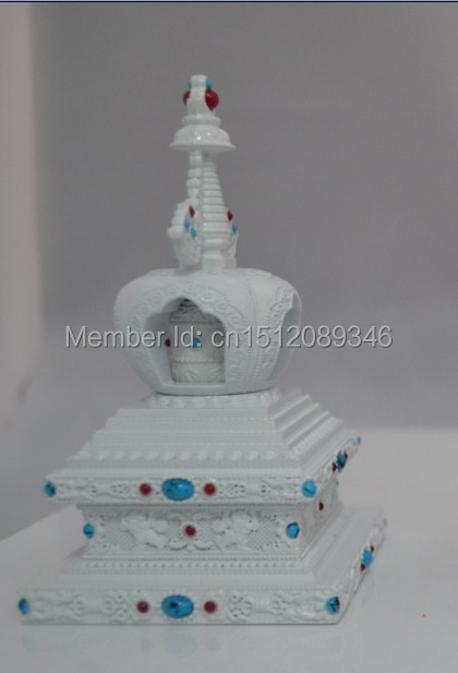 Buda torre/Torre de Marfim Bodhi Tathagata oito Ta Sheli/carro continha ornamentos de jóias girando rodada