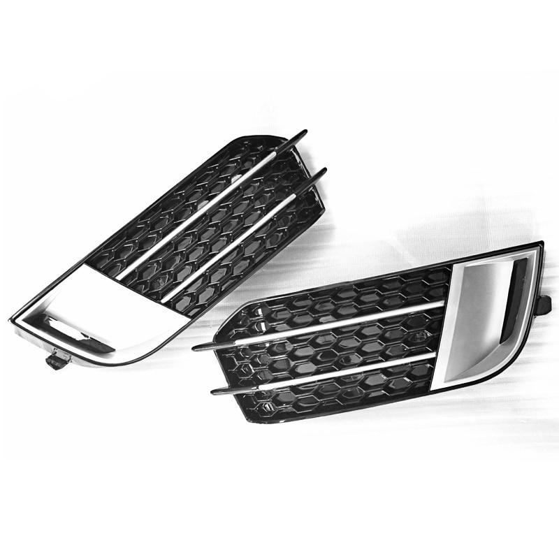 rs1 style matte front fog light cover grille trim for audi. Black Bedroom Furniture Sets. Home Design Ideas