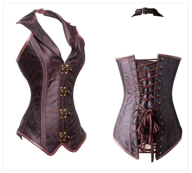 32d8c4e921 Kimring Women s Plus Size Steampunk Corset Gothic Steel Boned ...