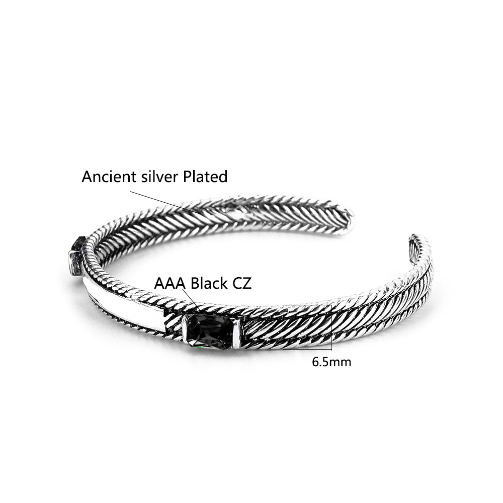 Высококачественные новые посеребренные браслеты в старинном